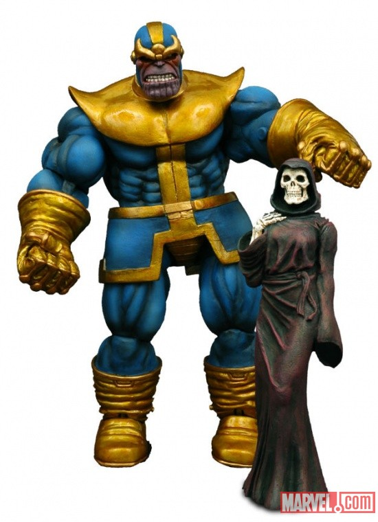 Marvel Select Thanos Action Figure with Death