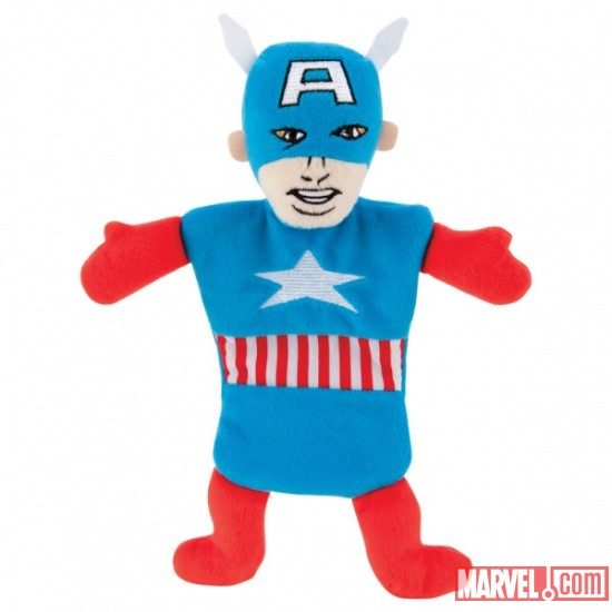 Captain America Flat Dog Toy w/ Crinkle by Fetch available at PetSmart