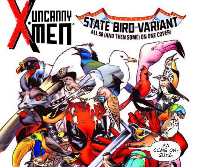 UNCANNY X-MEN 1 DEADPOOL 53 STATE BIRD VARIANT (NOW, WITH DIGITAL CODE)