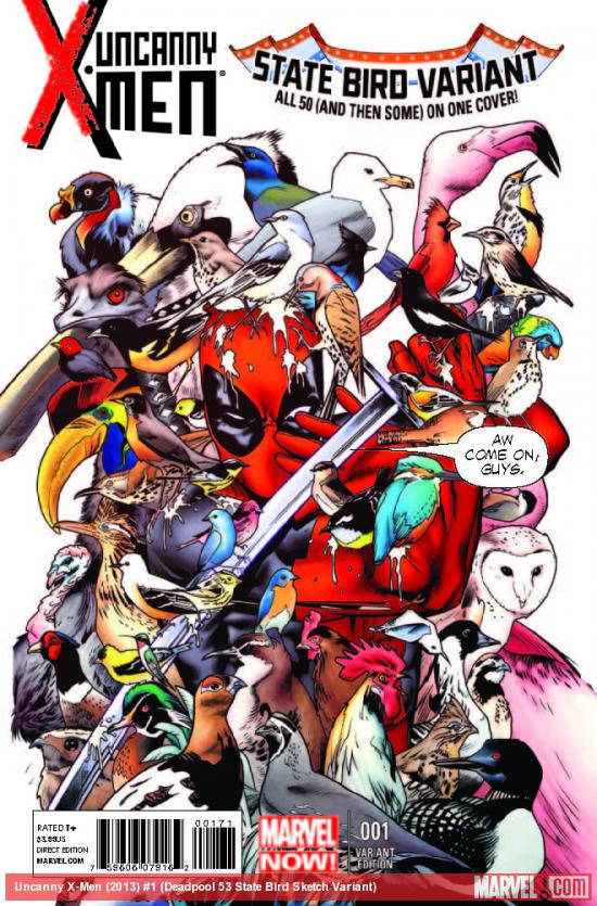 UNCANNY X-MEN 1 DEADPOOL 53 STATE BIRD VARIANT (NOW, WITH DIGITAL CODE)