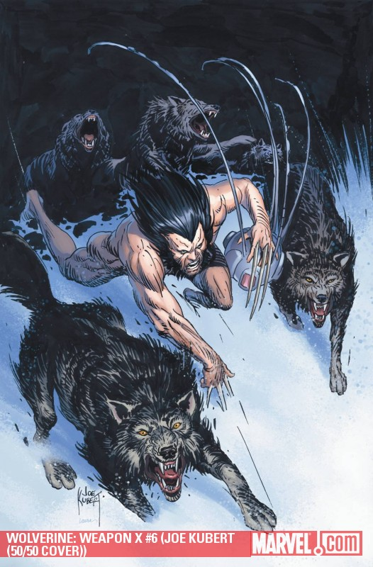 Wolverine Weapon X (2009) #6 (JOE KUBERT (50/50 COVER))