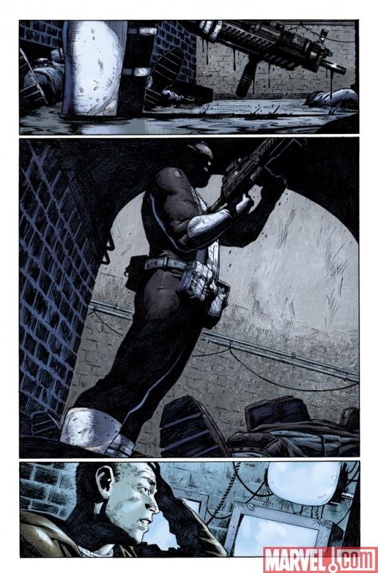 PUNISHER #4 preview art by Jerome Opena