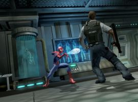 Spider-Man Webs A Security Guard