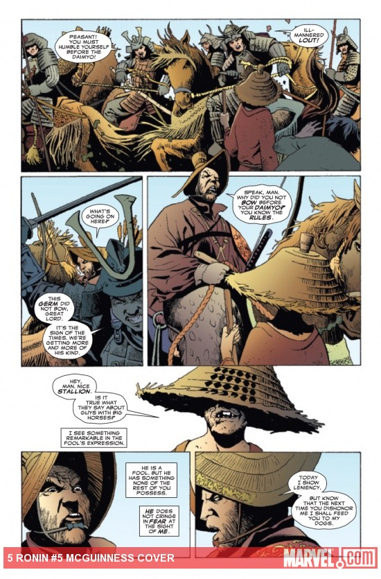 5 Ronin #5 preview art by Leandro Fernandez