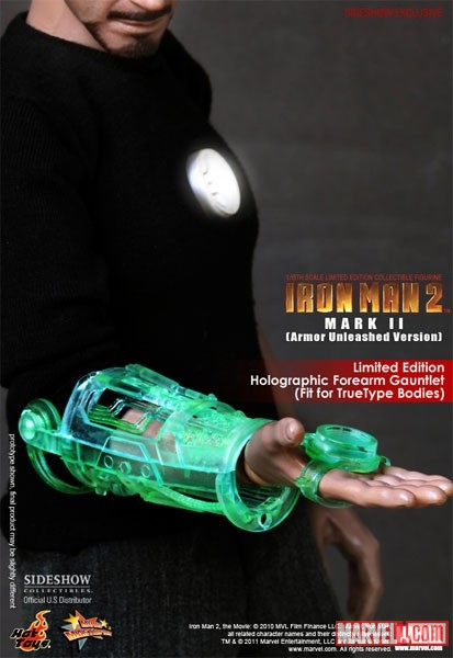 Limited Edition Holographic Forearm Gauntlet from Sideshow and Hot Toys