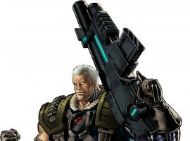 Cable character model from Marvel: Avengers Alliance