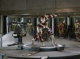 Tony Stark's new armor in Iron Man 3