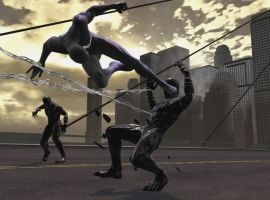 Black Suit Spider-Man fights an Alien Symbiote