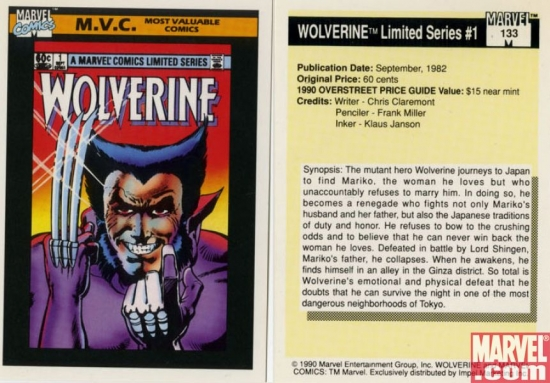 Wolverine Limited Series #1, Card #133