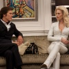 Kevin Bacon and January Jones in X-Men: First Class