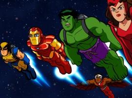 The Squaddies take flight in The Super Hero Squad Show