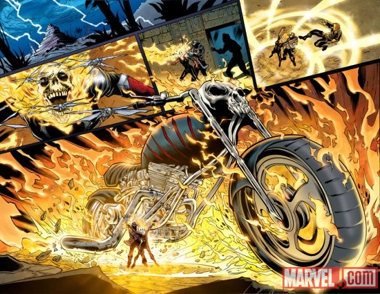 Ghost Rider (2011) #3 preview page by Brian Ching
