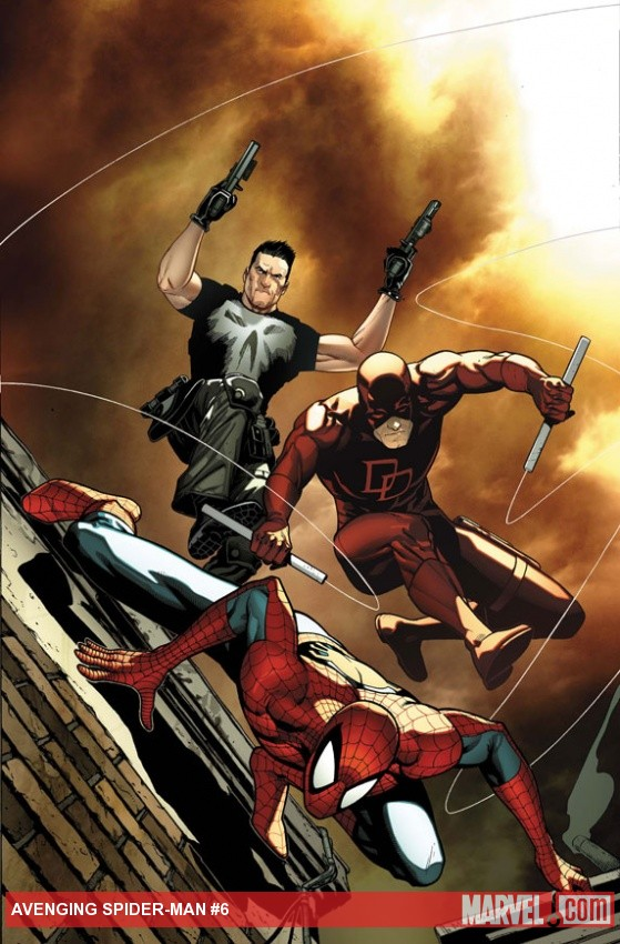 Avenging Spider-Man #6 cover by Steve McNiven