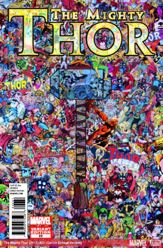 THE MIGHTY THOR 22 GARCIN COLLAGE VARIANT (WITH DIGITAL CODE)