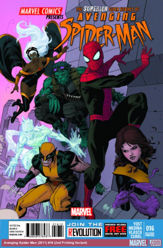 AVENGING SPIDER-MAN 16 2ND PRINTING VARIANT