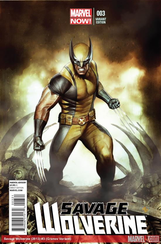 SAVAGE WOLVERINE 3 GRANOV VARIANT (NOW, 1 FOR 50, WITH DIGITAL CODE)