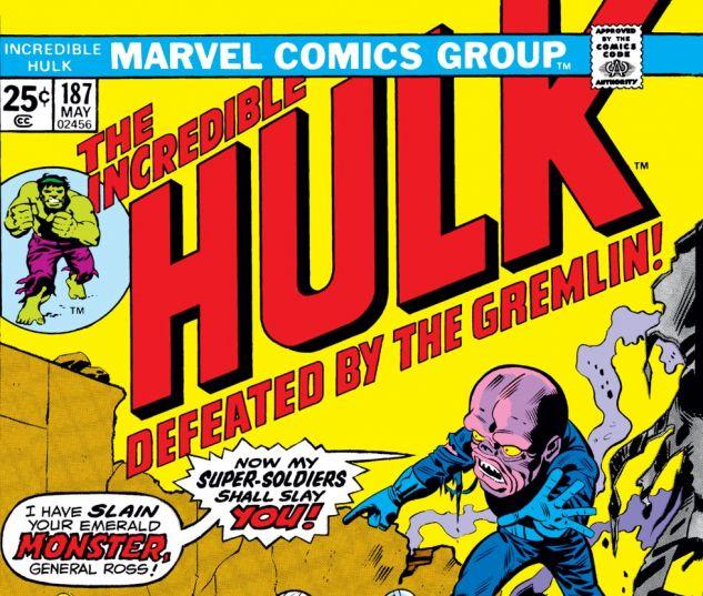 Incredible Hulk (1962) #187 Cover