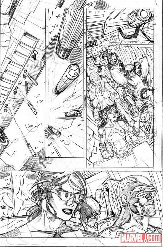 Uncanny X-Men #535 pencil art by Terry Dodson