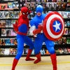 Captain America and Spider-Man at the Midtown Comics event