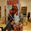 Artist Todd Nauck poses with two of Marvel's biggest future fans!