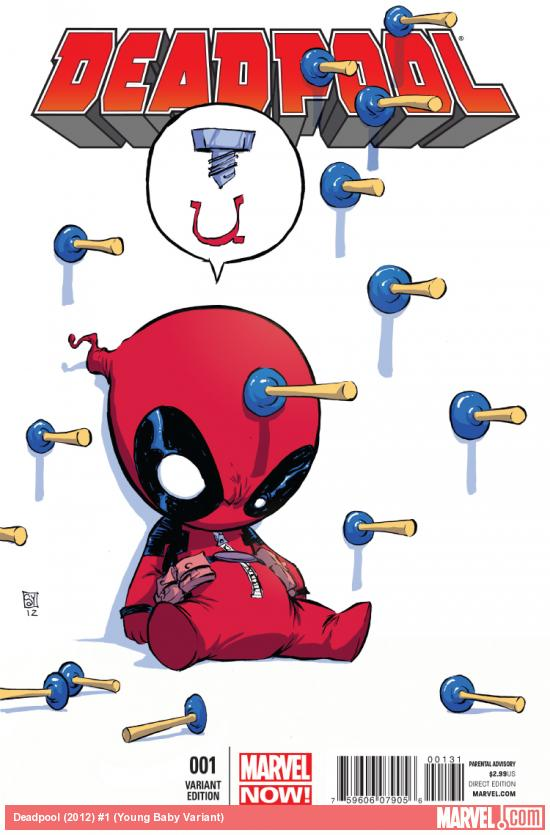 cover from Deadpool (2012) #1 (YOUNG BABY VARIANT)