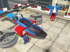 The Spider Copter from LEGO Marvel Super Heroes