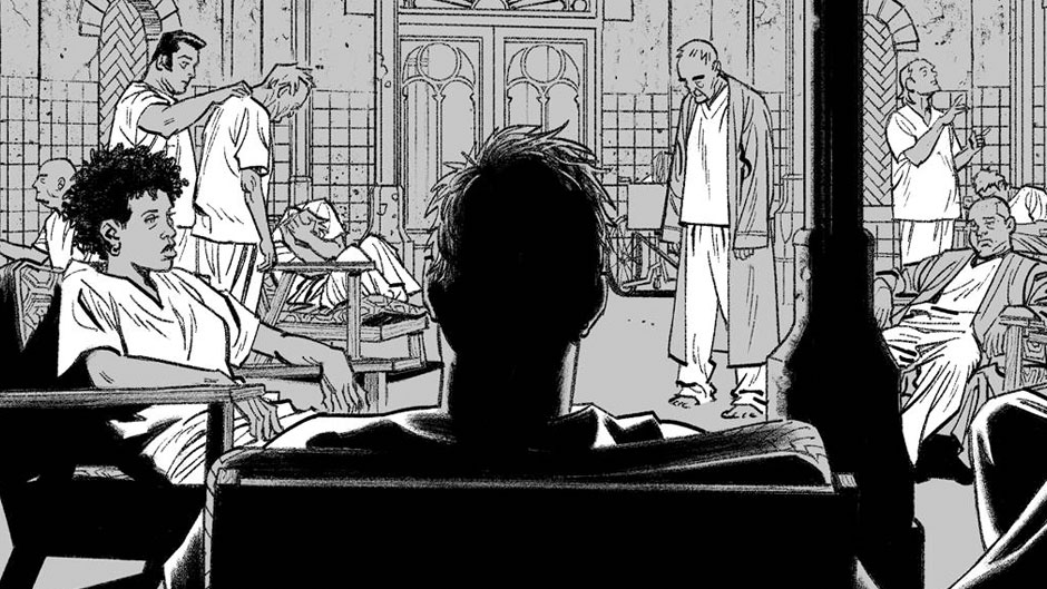 Moon Knight #1 preview inks by Greg Smallwood