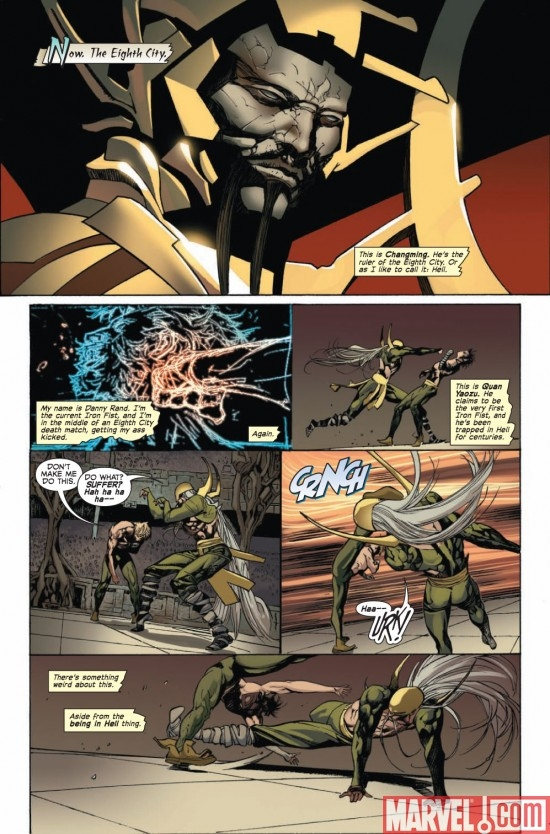 IMMORTAL IRON FIST #25 preview page