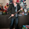 Thor's Chris Hemsworth wields the hammer in Marvel HQ