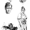 5 Ronin Hulk sketches by Dalibor Talajic