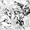 X-Men: Schism black and white art by Frank Cho