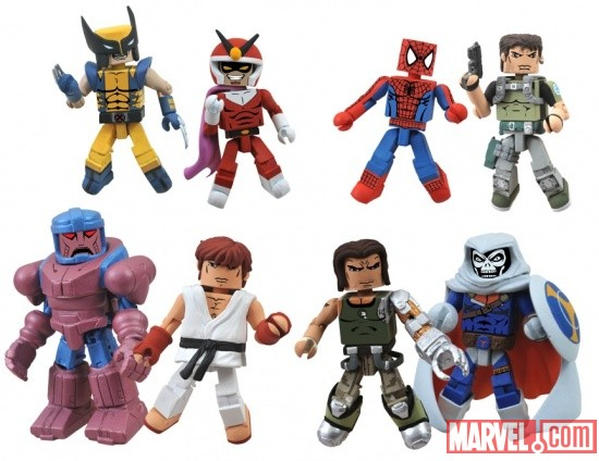Marvel vs. Capcom 3 Minimates Series 2 - Toys 'R' Us assortment