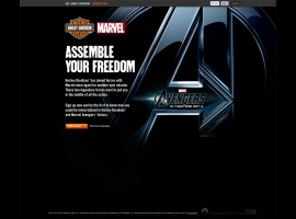 Harley Davidson's Marvel's The Avengers micro-site