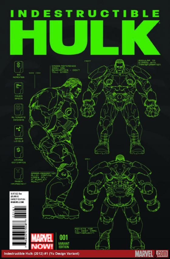 INDESTRUCTIBLE HULK 1 YU DESIGN VARIANT