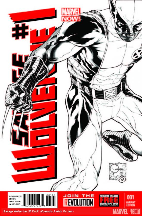 Savage Wolverine (2013) #1 (QUESADA SKETCH VARIANT)