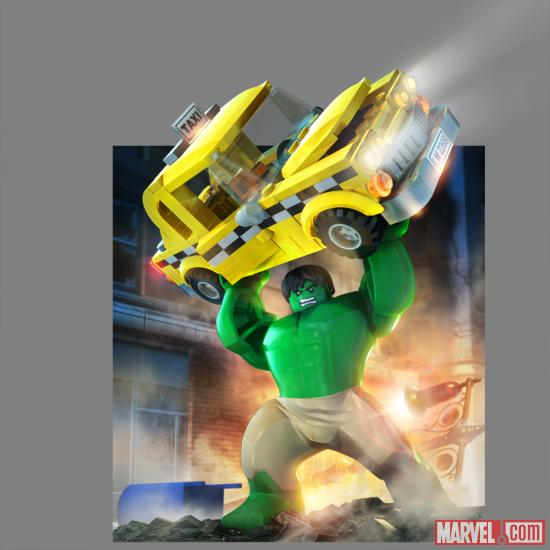 Hulk character render from LEGO Marvel Super Heroes