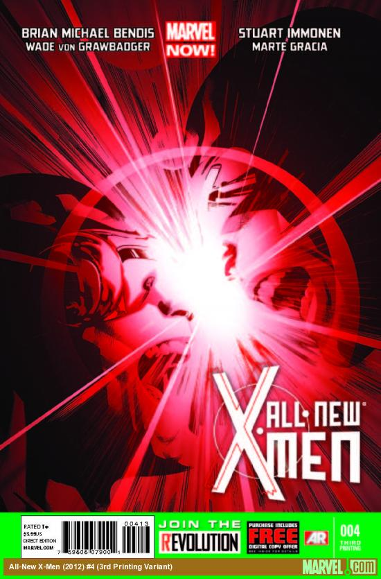 ALL-NEW X-MEN 4 3RD PRINTING VARIANT (NOW, WITH DIGITAL CODE)