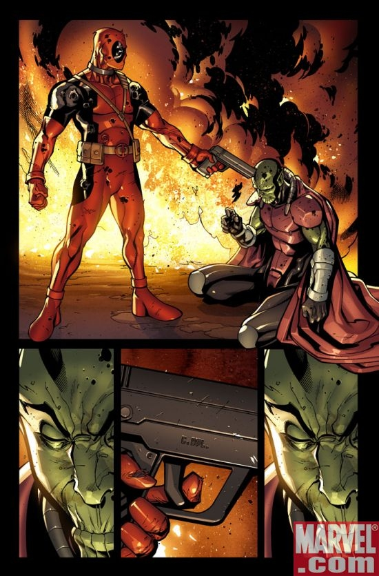 DEADPOOL #1 preview art by Paco Medina