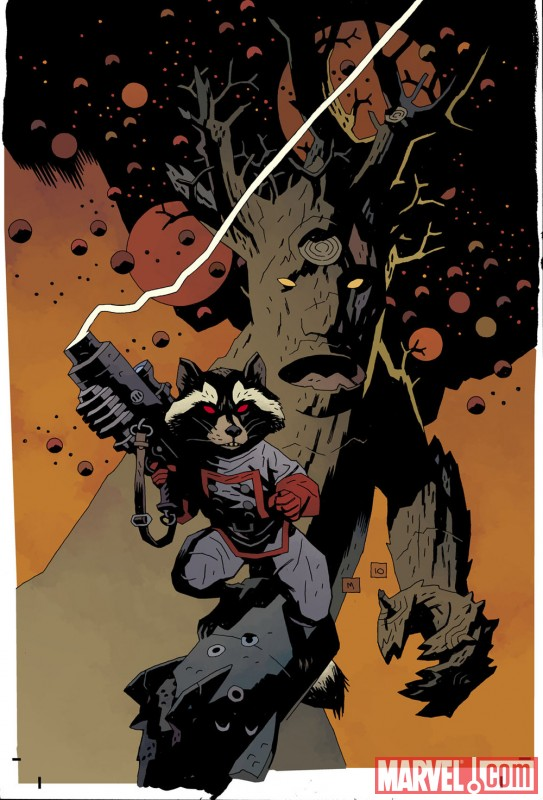 ROCKET RACCOON &amp; GROOT #1 cover by Mike Mignola