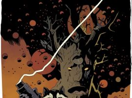 ROCKET RACCOON & GROOT #1 cover by Mike Mignola