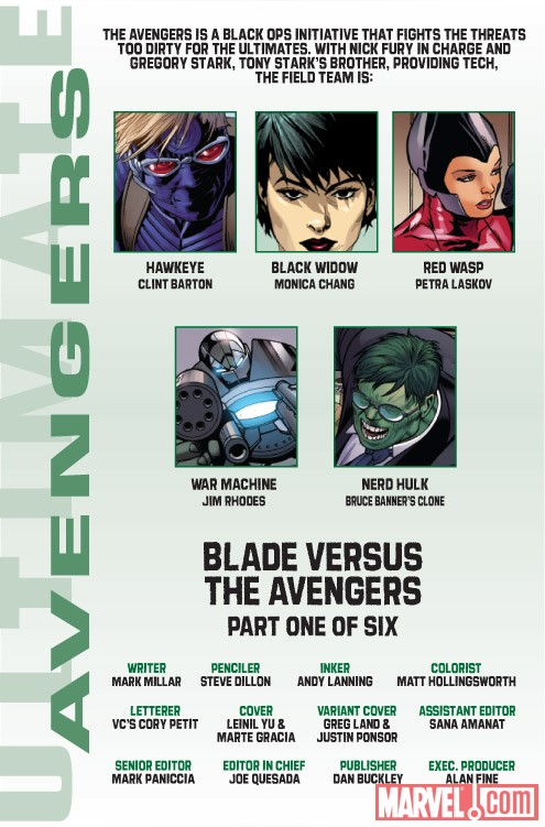 Ultimate Comics Avengers 3 #1 recap page