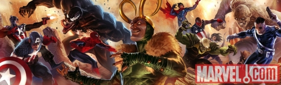 Image Featuring Wiccan, Young Avengers, The Winter Soldier, Venom (Mac Gargan), Hawkeye (Kate Bishop), Captain America, Secret Warriors, Hulkling, Loki, Nick Fury, Patriot