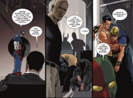 Image Featuring Sub-Mariner, Jimmy Woo, 3-D Man, Luke Cage, Captain America, Scarlet Witch