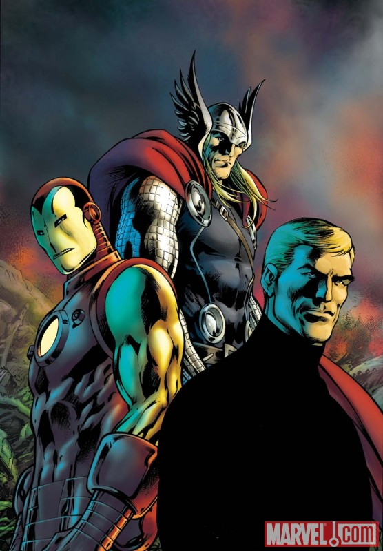 Image Featuring Captain America, Iron Man