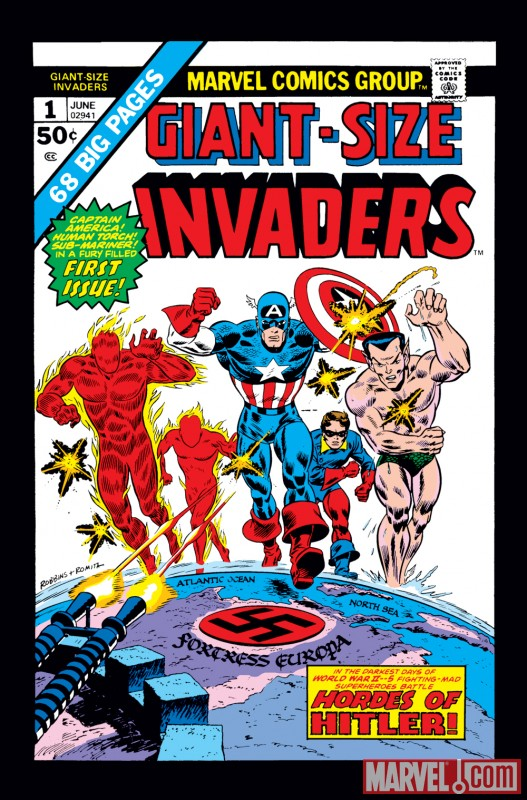 Image Featuring Sub-Mariner, Human Torch (Jim Hammond), Invaders, Toro (Thomas Raymond), Captain America