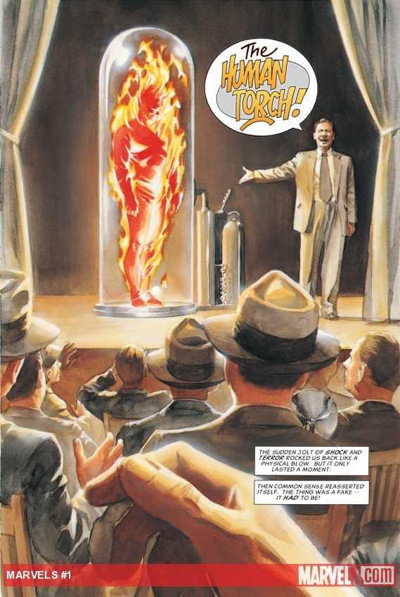 Phineas Horton unveils the original Human Torch
