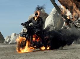 Nicolas Cage stars as Johnny Blaze/Ghost Rider in Ghost Rider: Spirit of Vengeance