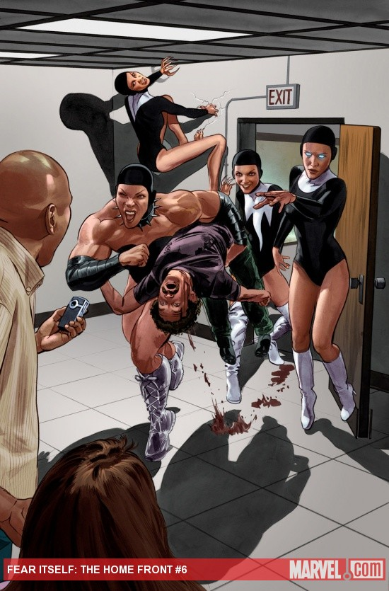 Fear Itself: The Home Front #6 preview art by Mike Mayhew