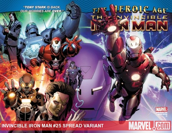 Invincible Iron Man (2008) #25, Spread Variant