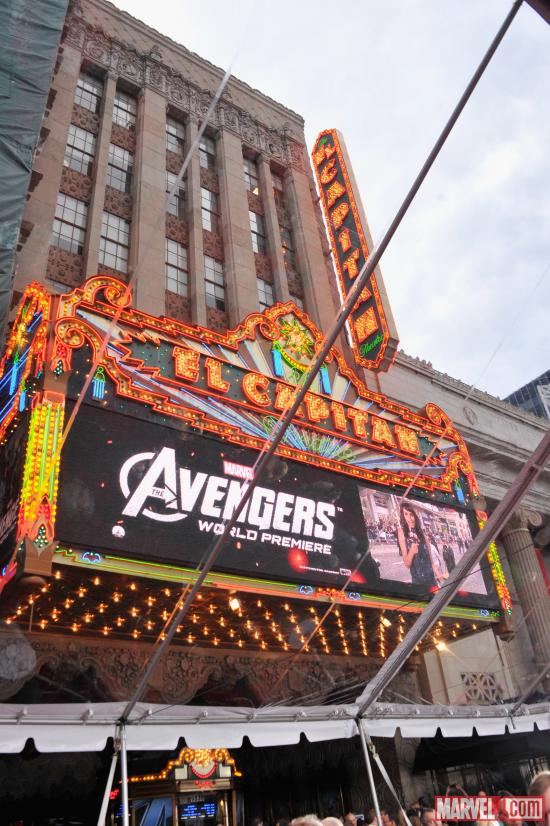 Avengers premiere at the El Capitan